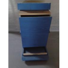 Stup pe 10 rame -cuib 1/1 cu antivarroa, magazie 1/1,podisor ,capac